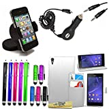 Accessory Master 15 in 1 value Mega pack Blanc pu cuir Housse coquepour Sony xperia T3 D5103