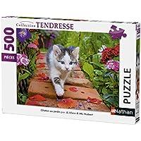Kätzchen mit Rosen 500 Teile Ravensburger Puzzle