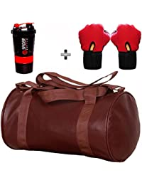 5 O' CLOCK SPORTS Gym Bag Combo Set Enclosed With Soft Leather Gym Bag For Men And Women For Fitness - Bag Size... - B079Y2C4LQ