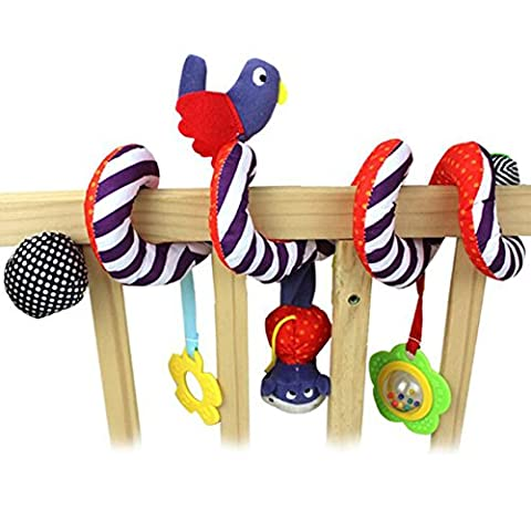 Birds with Mirror Gum Bell Newborn Buggy Hanging Cribs Curly