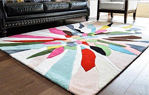 Teppich 3d teppich Farbe teppich Faser-teppich Quadratischer teppich Wohnzimmerteppich Abstrakte teppich Gewaschene teppich Teppich verschleifest Nordischer teppich Amerikanische waschbar carpet120 * 170cm47x67inch-A 140x200cm(55x79inch)