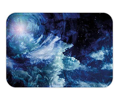 CHKWYN Doormat Space Nebula GaCloud on Celestial Sphere Universe Themed Infinity Design Galaxy Art Print Fabric Bathroom Decor Set with Hook Extra Long Dark Blue.jpg 15.7X23.6 Inches/40X60cm (Infinity Pickups)
