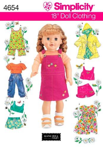 semplicità 4654 - Modelli per Cucire Vestiti per Le Bambole (Un Formato)
