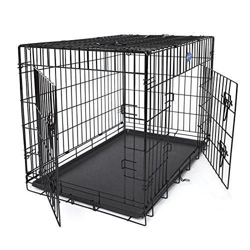 Songmics XXL Hundekäfig faltbar Käfig Transportkäfig aus extra starkem Draht stabil 106 x 77,5 x 70 cm PPD42H