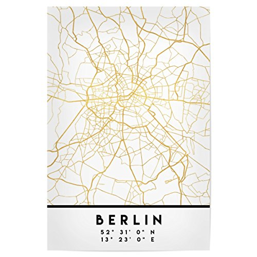 artboxONE Poster Berlin Germany Street MAP Art von Künstler Emiliano Deificus