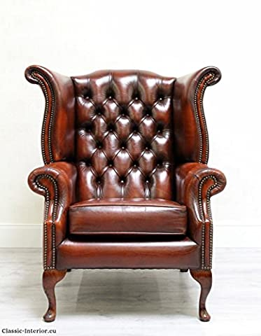 Sessel Chesterfield Chippendale Antik Ohrensessel Sofa Vintage
