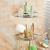 Yomiokla Bad-Zubehör - Küche, WC, Balkon und Bad Metall Handtuchring 304 Edelstahl-Regal Regale Regale b