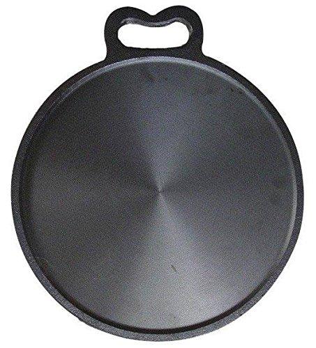 Bharath Agencies Kitchen House Premium Quality Dosa Tawa 12 Inch Pre-Seasoned Cast Iron Skillet