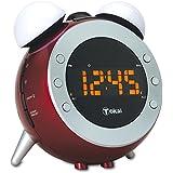 TOKAI - TCP - 124R Radio Réveil avec Projection - Lampes Veilleuses Simulateur d'Aube - Rouge