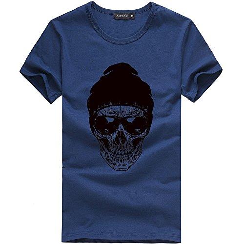 Verano Camiseta Manga Corta Hombre Moda Estampado