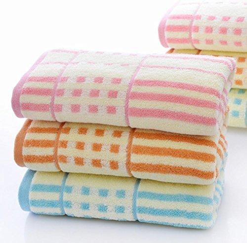 MuZhen-3 pezzi cotone jacquard Asciugamani Set Soft & assorbenti Sport
