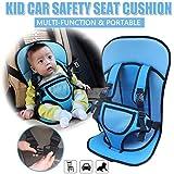 AVISA GLOBAL Baby's Adjustable Car Cushion Seat with Safety Belt Multi-Function (Blue)