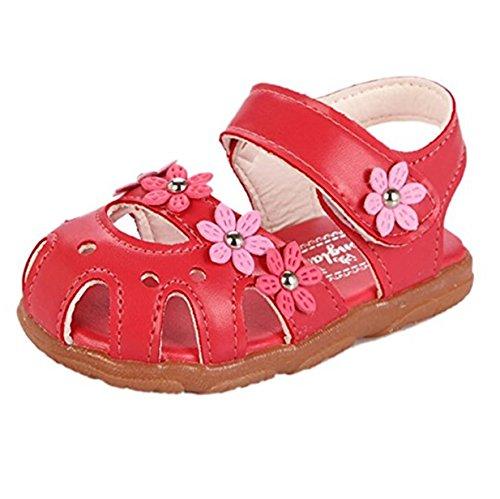 Blume Sandalen Lauflernschuhe Sommer Kinderschuhe (29, Wassermelone rot) (Rote Blumen-mädchen-schuhe)