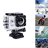 #9: MOBONIC 1080P Waterproof Sports Action Camera - 4K Ultra HD, 16MP,2 inch LCD Display, HDMI Out, 170 Degree Wide Angle Compatible with All Smartphones (One Year Warranty)