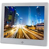 Discoball - 8 inch Digital Photo Frame [ HD 720p LED Display | 4:3 1024x768 ] (Metal Frame - Silver)