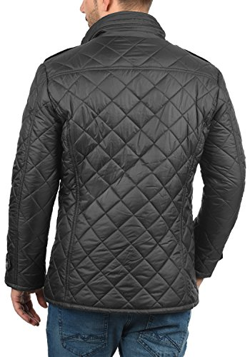 !Solid Safi Herren Steppjacke Übergangsjacke Jacke Mit Stehkragen, Größe:S, Farbe:Dark Grey (2890) - 3