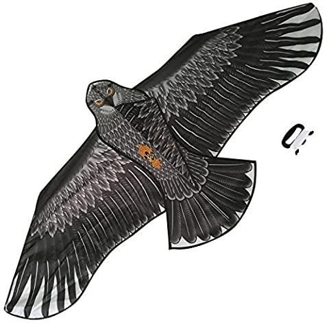 Large Eagle Kite (Black) for Kids and Adults - Huge Wingspan and Lifelike Design - (Suggerimenti Per Le Prestazioni)