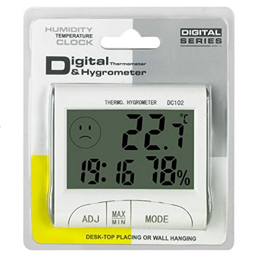 Digitales Thermo-Hygrometer, Multifunktions-LCD-Uhr Thermometer-Hygrometer Digitales Wetterstation mit Hygrometer Thermometer Indoor