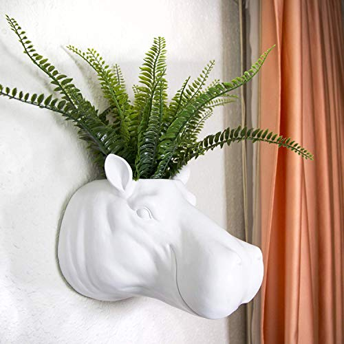 Walplus Blumentopf Hippo, Polyester, Mehrfarbig, 26 x 26 x 20 cm