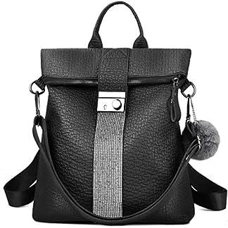 VBIGER Bolsos mochila mujer Antirrobo Mochila de Cuero PU Mano Mochilas Casual Bolsa Bandolera Messenger Bag Backpack