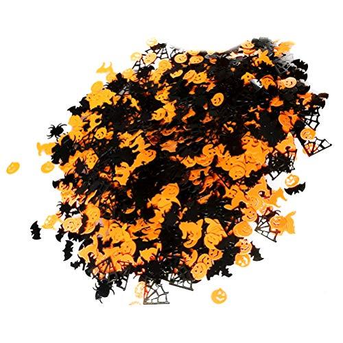 Amosfun Papier Konfetti Kürbis Tisch werfen Konfetti Hexe Fledermaus Spinnennetz Spinne für Halloween Party 1 Pack 100g