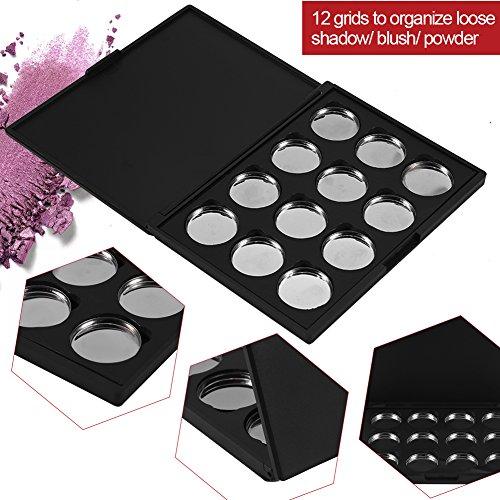12 Grids Leere Kosmetische DIY Palette, Augenschatten Lidschatten Lippenstifte Blusher Pulver Container Palette Fall Make-up Werkzeug DIY Reise Make-up Palette (Kosmetische Magnetische Fall)