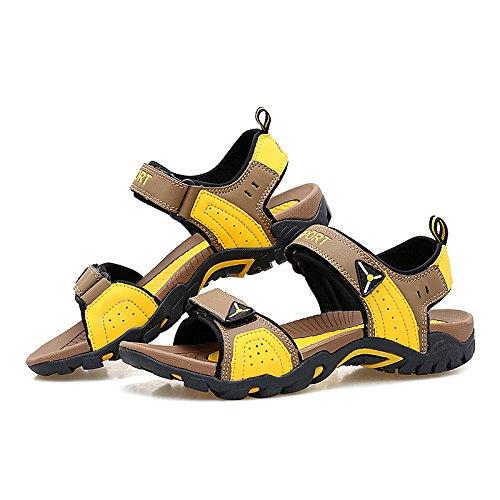 Shaoeo Estate Style Scarpe Scarpe Da Punta Sandali Da Spiaggia Sport Tempo Libero Le Donne E Gli Uomini Light brown