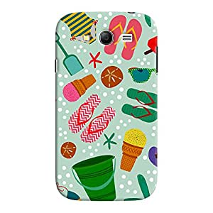 ColourCrust Samsung Galaxy Grand Neo / NEO GT Mobile Phone Back Cover With Beach Time Pattern - Durable Matte Finish Hard Plastic Slim Case