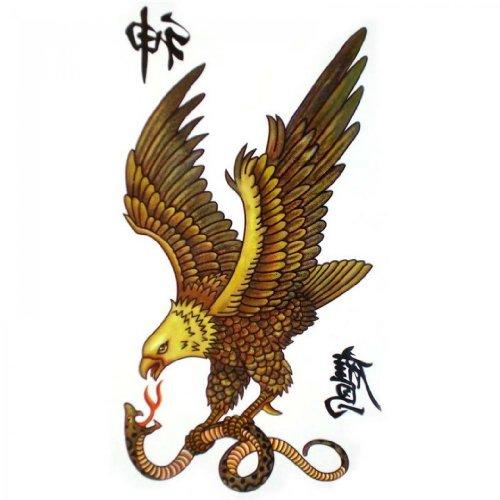 Tatouages temporaires de tatouage temporaire SPESTYLE imperméable non - toxique pour les hommes et les femmes de la mode sexy aigle saisissant un serpent