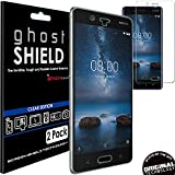 TECHGEAR [2 Pack] Screen Protectors to fit Nokia 8 [ghostSHIELD Edition] Genuine Reinforced Flexible TPU Screen Protector Guard Covers with Full Screen Coverage inc Curved Screen