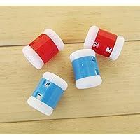 kimberleystore 4pcs plástico de punto Agujas de tejer orgullo cuentavueltas 2tamaños (color al azar)