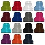 6 tlg. Handtuch / Duschtuch Set in vielen Farben - 4 Handtücher 50x100 cm - 2 Duschtücher 70x140 cm - Farbe lila