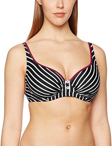 Pour Moi? Starboard Underwired, Tops de bikini, Mujer, Negro Black Purple, 90D Talla del fabricante...