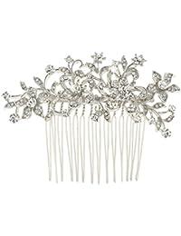 Ever Faith Peineta con austriaco cristal flor Art Deco boda N03785–1