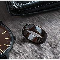 Ebony Macassar Wood Ring - Wedding Band - Classic Ring - Black Wood - Dark Ring - Boyfriend Gift - Mens Wooden Ring - 5 year Anniversary