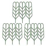 JYCRA Pflanzenstütze Garten-Gitter, DIY Garten Blumentopf Mini Rankgitter Plant Growing unterstützt–Leaf Form, grün