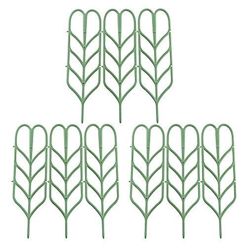 Rtway garden trellis, mini rampicanti per diy supporto per vaso per piante da giardino, 10,2cm l x 35,6cm h, 6pezzi, lyndee, 9 pcs