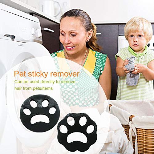 2 Stück Haustier haarentferner, Tierhaarentferner für Waschmaschine Pet Hair Catcher Reinigung Ball Haarfänger Haarentfernung für Hundehaar, Katzenfell und alle Haustiere Schwarz