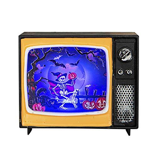 Kostüm Tv Figur Lustige - Oyedens Halloween Lichter Dekoration Requisiten Kreative Retro Tv Led-Leuchten Halloween-Verzierungs-Fernsehen-Licht, Das Retro- Licht-Urlaubsparty-AtmosphäRen Hängt