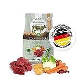 AniForte Natürliches Hunde-Futter Trockenfutter Country-Beef 2kg, Saftiges Feines Rind-Fleisch, 100% Natur Allergiker, Getreide-Frei, Glutenfrei, mit Kartoffeln, Ohne Chemie und künstliche Vitamine