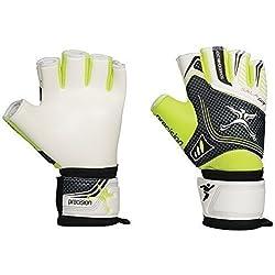 Balón de fútbol sala Junior de portero de fútbol de portero Precision GK guantes sin dedos, color - White/Green/Black, tamaño 4