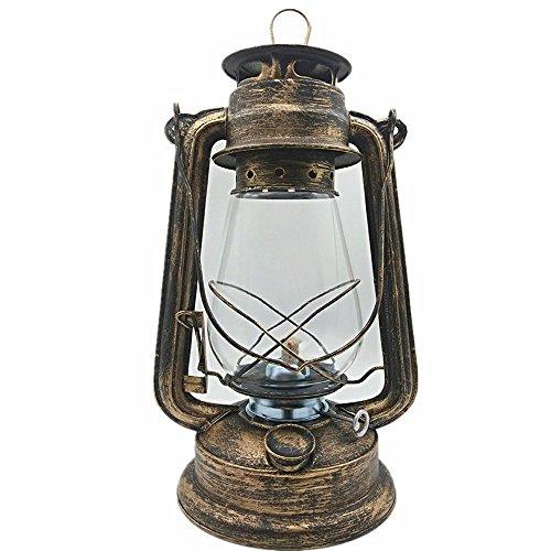 NSHUN Große Öllampe Hohe Helligkeit Große Kapazität Vintage-Stil Petroleumlampe Licht Für Bar Coffee Shop LED Tischlampe -