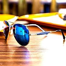 Y&S Golden Stick Blue Mercury Unisex Sunglasses For Mens Combo (New-Stylish-Aviator-BM-Golden-Stick)