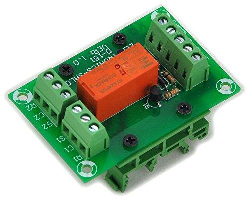 Electronics-Salon Module de relais de puissance DPDT bistable / verrouillable de 8 ampères, bobine DC5V, avec pieds de rail DIN