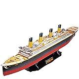 CubicFun 3D Puzzle Titanic Skalierte Modelle Schiffsmodell (Große), 113 Teile
