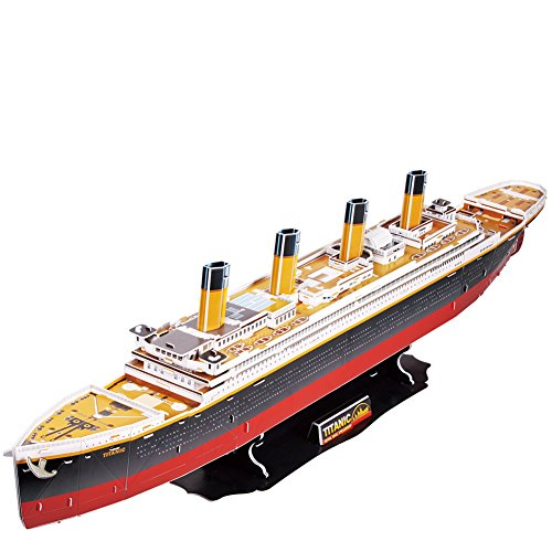 CubicFun 3D Puzzle Titanic Modell Schiffs und Bootskits, DIY Geschenke für Erwachsene und Kinder (Großformat), 113 Teile