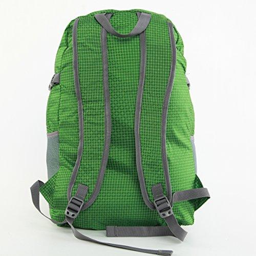 RULOTE 002 Männer Schultertasche Verstellbare Umhängetasche Reißverschluss Echtleder Leder Nylon Tuch Rechteckige Tasche 29 * 25 * 8cmcm grün
