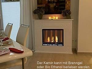 Ethanol Cheminee Firegel Modèle Loris Premium XXL Blanc