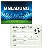 15er Kartenset Einladungskarten Kindergeburtstag Junge, Geburtstagseinladungen Fussball-Stadion, Party-Einladungen