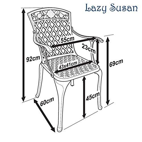 Lazy Susan - ROSE Bistrotisch mit 2 Stühlen